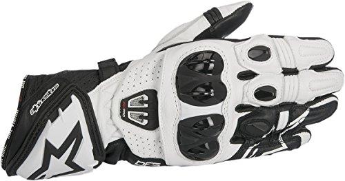 Alpinestars Gp Pro Glove - Alpinestars 355671712L GP Pro R2 Leather Gloves (Black/White, Large)