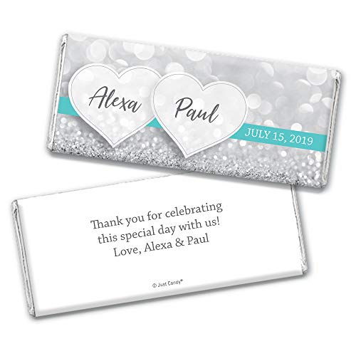 Wedding Candy Favors Personalized Hershey's Chocolate Bars (12 Bars)
