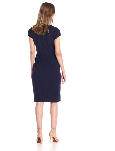 Amazon Brand - Lark & Ro Women's Cap Sleeve V-Neck Sheath Dress