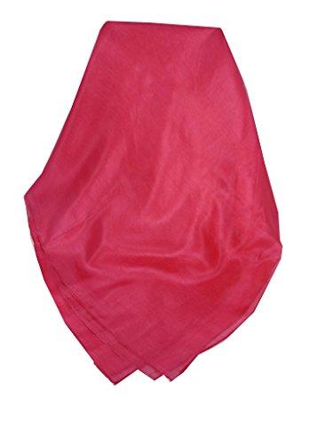Echarpe Traditional Soie du Mûrier Individuellement Teinte à la Main Pink de Pashmina & Silk
