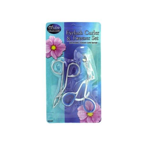 Eyelash Curler & Tweezers Set 24/Pack (6 Pack)