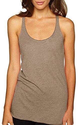Next Level Women's Stylish Soft Tri-Blend Racerback Tank, Venetian Gray, Medium