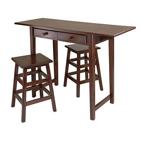 Mercer Double Drop Leaf Table with 2 Stools Leaf Drop Table Antique Leg Gate Mahogany Oak Twist Solid - Drop Leaf Table English