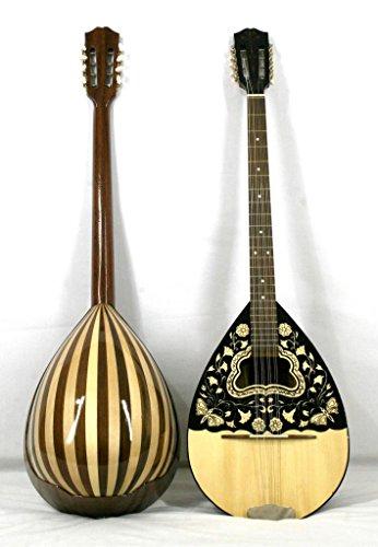 Musikalia luthier-crafted Griechische Bouzouki mansonia Walnuss und Ahorn ausgiebig serigraphed Sound Board und Kopfplatte