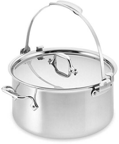 All-Clad 4508P Stainless Steel 3-Ply Bonded Dishwasher Safe Pouring Stockpot Cookware, 8-Quart, Silver ()