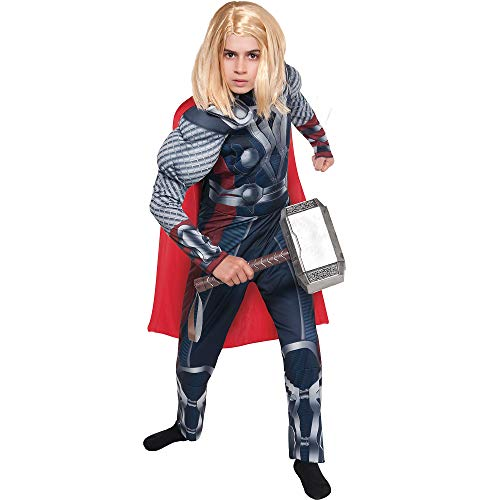 Costumes USA The Avengers Thor Muscle Costume for Boys, Size Large, Includes a Padded Jumpsuit and an Attached Cape]()