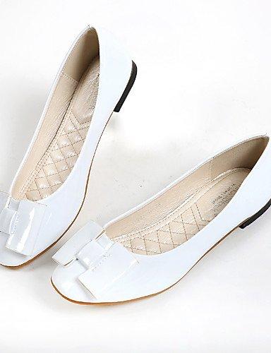 PDX/ Damenschuhe-Ballerinas-Lässig-Kunstleder-Flacher Absatz-Komfort / Rundeschuh-Weiß , white-us8.5 / eu39 / uk6.5 / cn40 , white-us8.5 / eu39 / uk6.5 / cn40