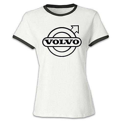 (Women's Volvo Baseball Tee Shirt Black)