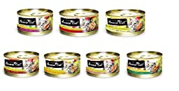 Fussie Cat Premium Variety Packs, Canned Cat Food 2.8oz Cans (Variety Pack 1)