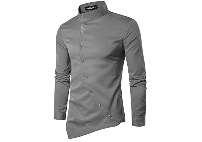 YYear Mens Shirts Casual Printing Regular Fit Long Sleeve Button Down Shirt Top