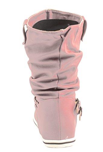 Rosa plisadas Elara Mujer rosa Botas qOnwapUt