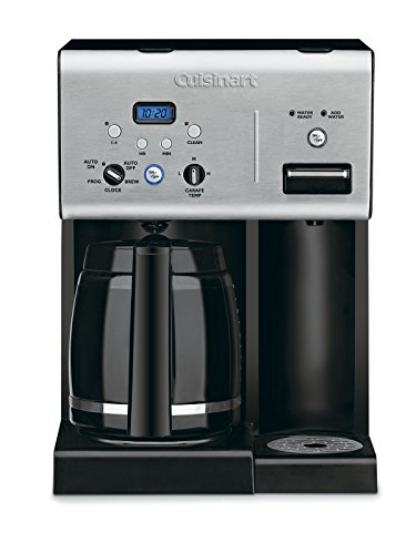 Cuisinart CHW-12 Coffee Plus 12-Cup Programmable Coffeemaker with Hot Water System, Black/Stainless (System Dispense)
