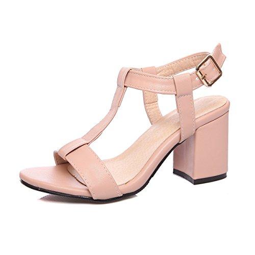 Sandalo Tacco Cinghia Strappy Aiweiyi Sandali Del Rosa T Donne Vestito Grosso Piattaforma a1qOXvqx