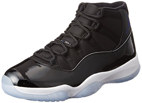 NIKE Mens Air Jordan 11 Retro Space Jam Black/Concord-White Leather Size 10.5