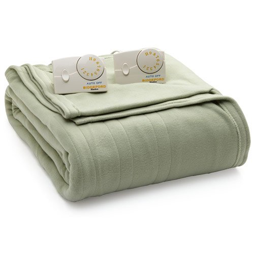 Biddeford 1023-9032108-633 Comfort Knit Fleece Electric Heated Blanket...