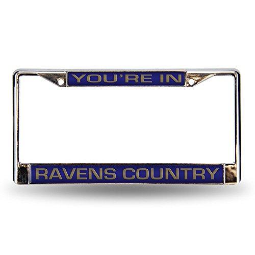 Rico Industries RIC-FCL0705C Baltimore Ravens NFL Laser Chrome License Plate Frame