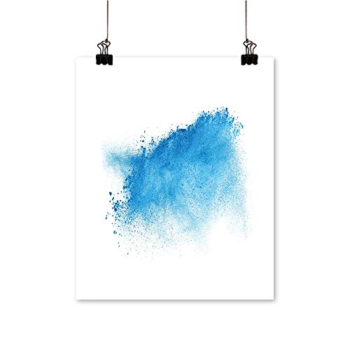 (for Home Decoration Freeze Motion Blue dust explaosion Isolate on White backgroun for Home Decoration No Frame,24