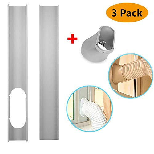 - Scarecrew Window Slide Kit Plate Window Vent Adapter Portable AC Vent Kit Exhaust Hose Connector Kit 2Pcs Window Slide Kit Plate 6inch Window Adapter for Portable Air Conditioner