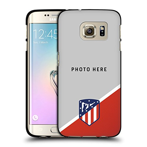 Custom Customized Personalized Atletico Madrid Badge 2017/18 Black Soft Gel Case for Samsung Galaxy S7 - Madrid Badge Real