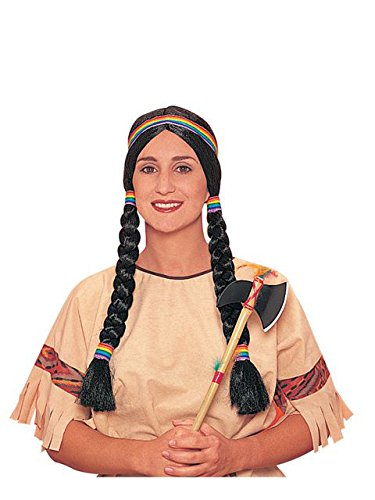 Indian Squaw Braided Adult Wig (Squaw Costume)