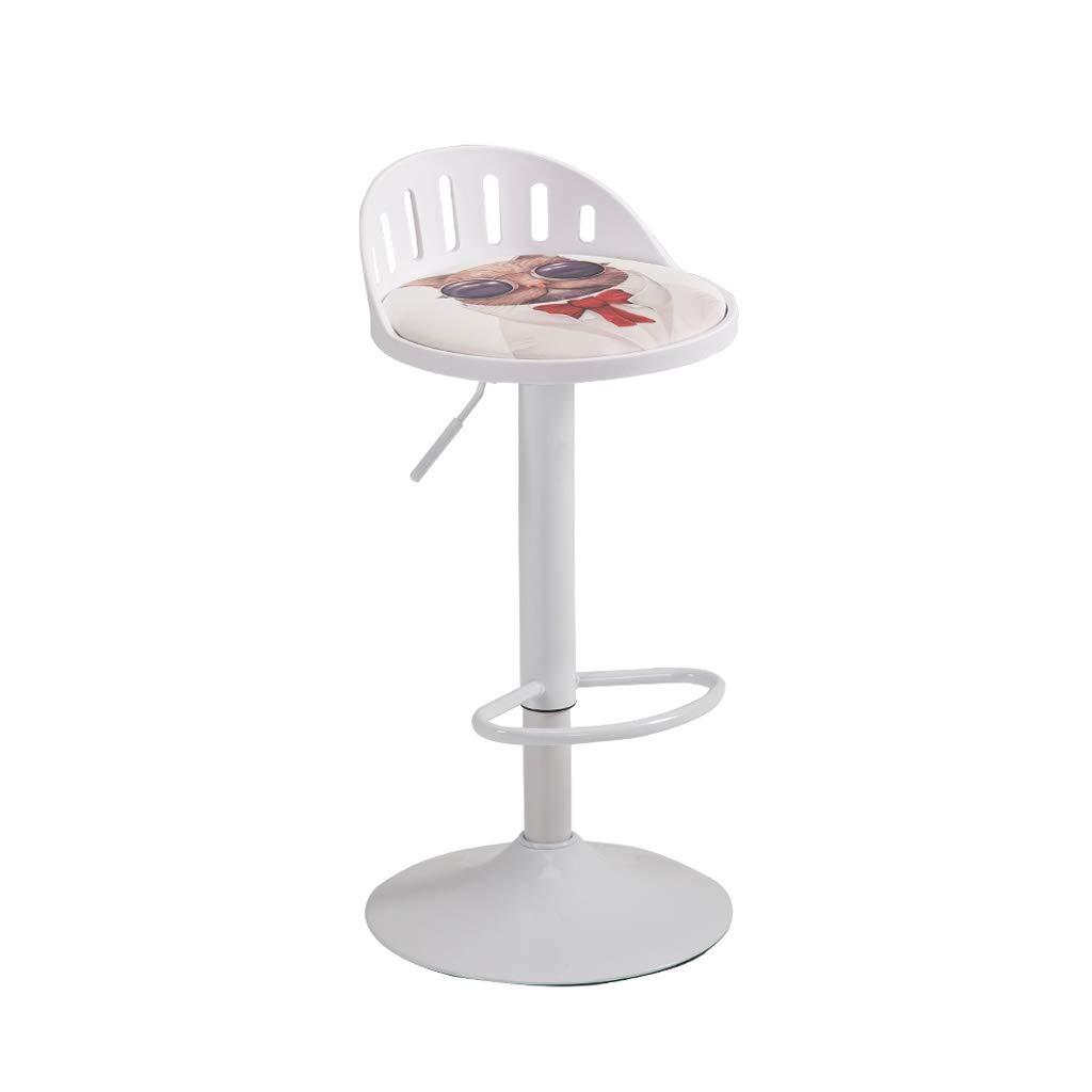 A Bar Chair Home Lift redary Dining Chair Tough PP Material High Elastic Sponge Filled Ergonomic Design 7 color 39CM  60-80CM (color   C)