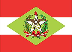 magFlags Large+ Flag Santa Catarina   landscape flag   1.5m²   16sqft   100x140cm   40x55inch - 100% Made in Germany - long lasting outdoor flag