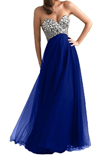 Ouman Women's Long Tulle Party Dress Prom Gown Royal Blue M