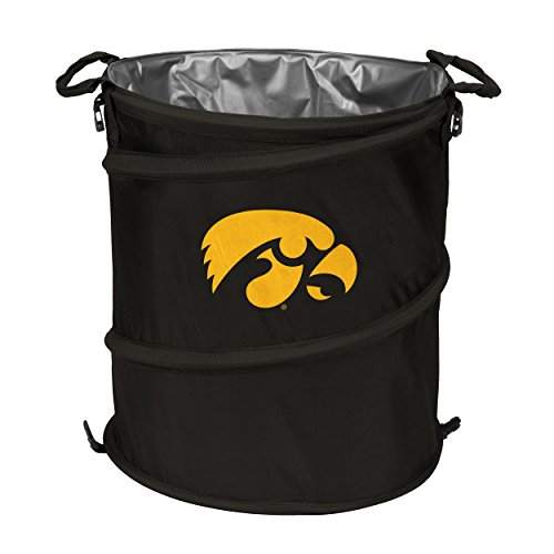 [NCAA Iowa Hawkeyes 3-n-1 Collapsible Trash Can, Cardinal] (Iowa Hawkeyes Tailgate Cooler)