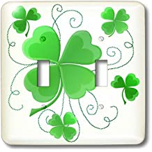 3dRose LLC lsp_11678_2 This Design is of Some Lucky Shamrocks Just in Time for St Patricks Day, Double Toggle Switch