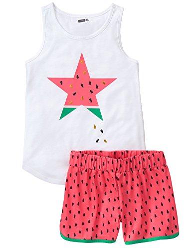 Crazy 8 Girls Little 2-Piece Pajama Set (Short Sleeve)