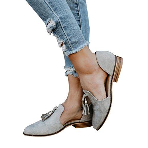 250a23c4a6 Hot Sale! Women Shose, Ladies Autumn Shoes Fashion Ankle Solid Tassels  Leather Romon Single Shoes