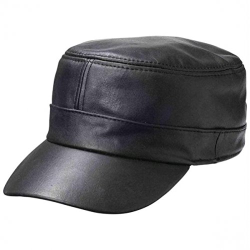 Casual Outfitters Solid Genuine Lambskin Leather (Solid Genuine Leather Baseball Cap)