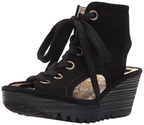 Fly London Womens Yaba 702 Suede Sandals Black