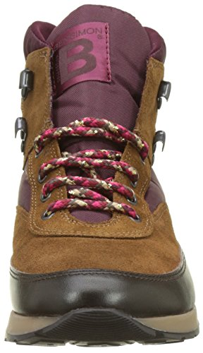 Bensimon Tennis Trekking, Sneaker a Collo Alto Donna Rouge (Prune)