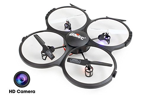 UDI U818A-HD 2.4GHz 4 CH 6 AXIS Headless RC Quadcopter...