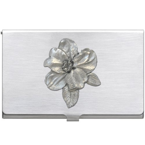 Pewter Apple Blossom Business Card Case 1pc