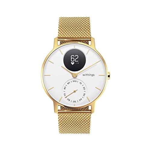 chollos oferta descuentos barato Withings Steel HR Hybrid Smartwatch Reloj de fitness con frecuencia cardíaca y medición de actividad 36 mm Edición limitada pulsera dorada