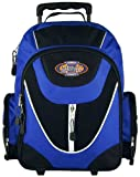 UrbanSport Blue Wheeled Rolling Student School Backpack, Bags Central