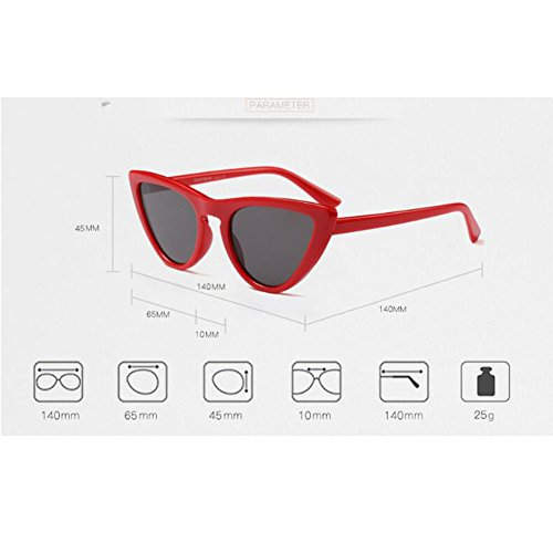 Gafas Lente Estilo Xinvision Escoger de sol Ojo primavera C3 Color Bisagra Gafas Mujer Enorme de UV400 Azul Retro 8 Marco gato de Blanco para súper Moda pZpBH