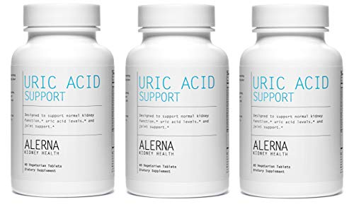 Alerna Kidney Health Uric Acid Support with Tart Cherry, Celetry Extract, Tumeric, Quercetin, and More to Support Normal Kidney Function Uric Acid Levels – 3 Bottles