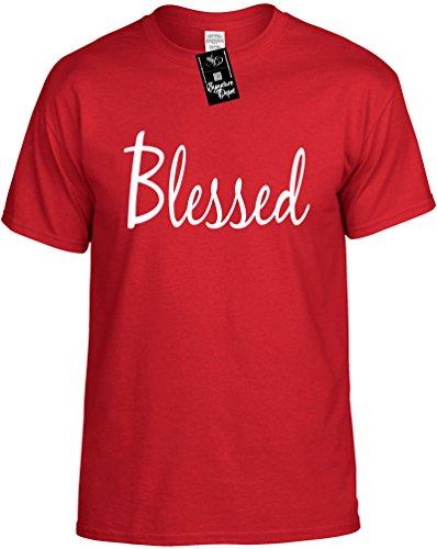 Signature Depot Mens Funny T-Shirt Size 4X (Blessed (Motivational Shirt) Unisex Shirt