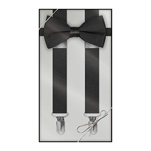 (Suspender & Bow Tie Set (Adult, Black))