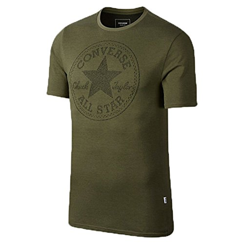 Converse Jacquard All Star Chuck Taylor Men's Short Sleeve T-Shirt Olive/Black 10003421-a05-342 (Size M)