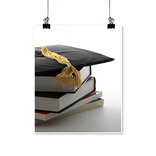 Canvas Prints Wall Art Graduation Cap and textbooks Artwork for Wall Decor,24