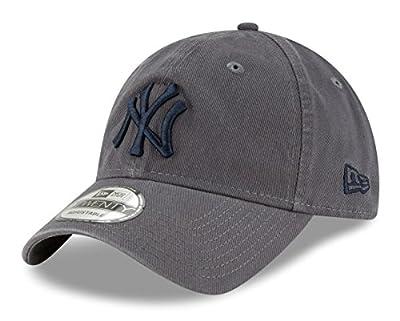 New Era New York Yankees MLB 9Twenty Twill Core Classic Adjustable Graphite Hat by New Era