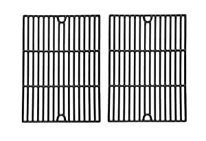 Porcelain Cast Iron Cooking Grid for Brinkmann 810-2600-0, 810-2600-1, 810-2610-0, 810-2630-0, 810-2700, 810-2700-0, 810-2700-1, 810-2705-1, 810-2720 and Grill Chef SS525-B, SS525-BNG Gas Grill Models, Set of 2