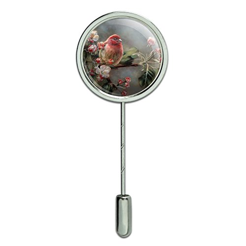 - GRAPHICS & MORE Purple Finch Bird Tree Blossoms Stick Pin Stickpin Hat Brooch