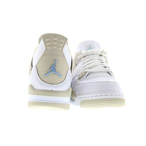 Jordan Niños Nike Air 4 Gg Retro Blanco / Azul Frontera De Arena / La Luz Del Zapato De Baloncesto 5,5 Nosotros Los Niños