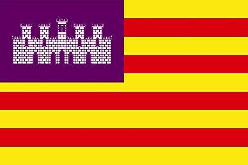 Durabol Gran Bandera de Baleares 150 x 90 cm Satén Flag: Amazon.es: Deportes y aire libre