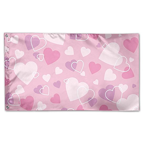 ESP Decor Valentine's Love Fall Outdoor Yard House Garden Flags All-Weather Polyester 3x5 Banners